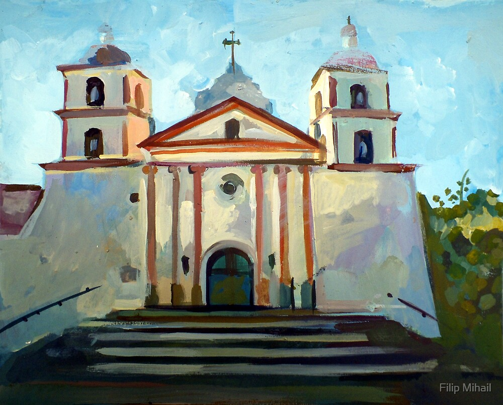 Santa Barbara Mission by Filip Mihail