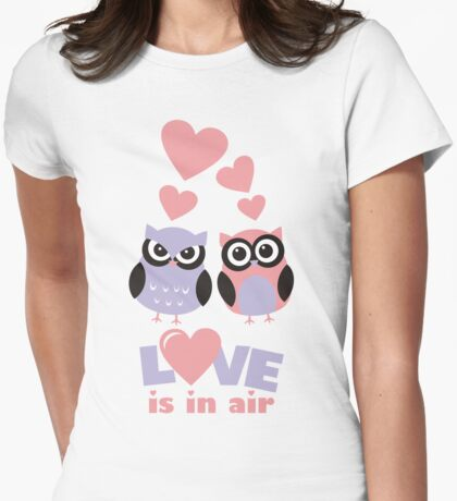 Love is in Air - Cute Owls  for Valentine Day  T-Shirt