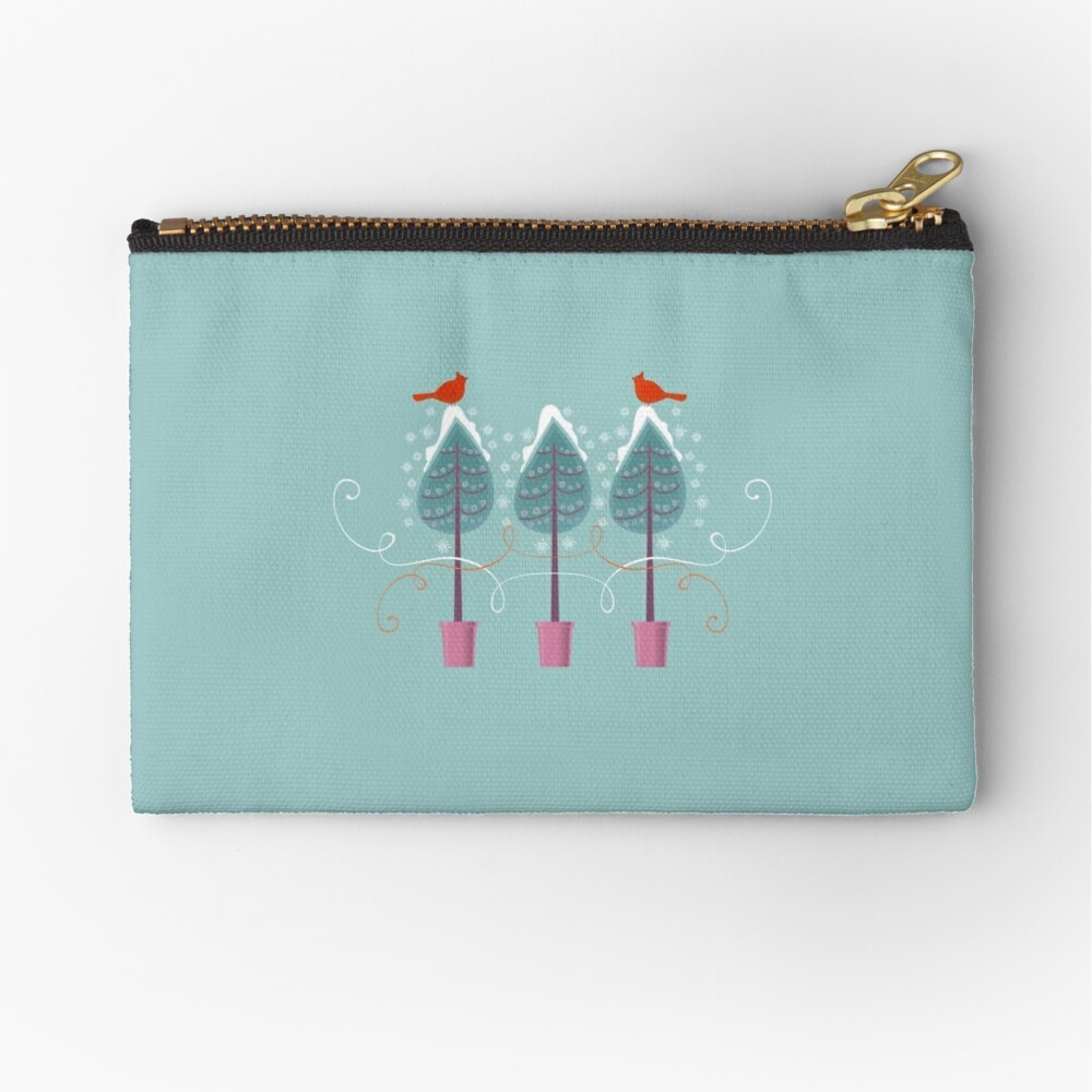 Winter Garden Zipper Pouch