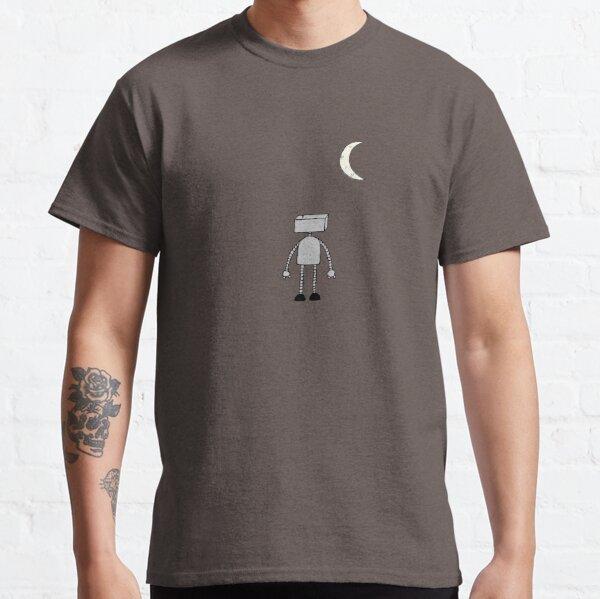 Robot Staring Up At Moon Classic T-Shirt