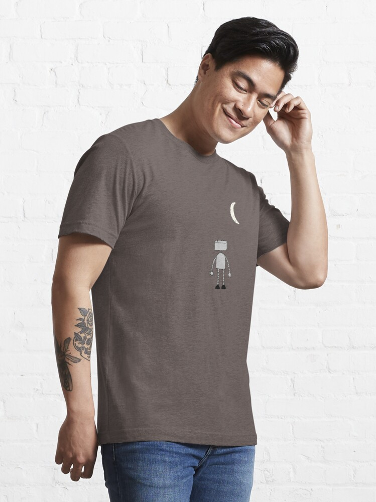 Alternate view of Robot Staring Up At Moon Essential T-Shirt