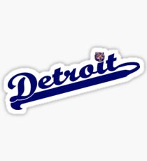 Tigers of Detroit Logo Sticker