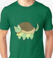 Green Cat Turtle T-Shirt