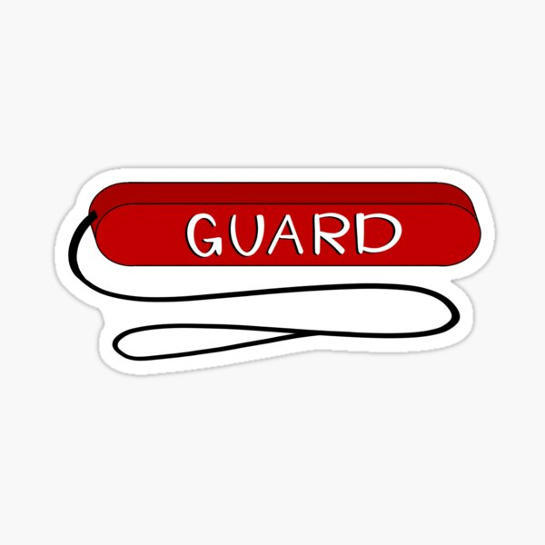 Lifeguard tube with strap Sticker