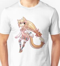 Pretty Blond Cat Girl Unisex T-Shirt