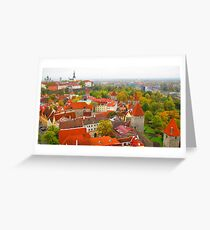 Vivid Tallinn before the Fog Greeting Card