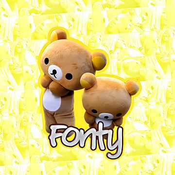 Fonty Bear iPhone Case by MarajMagazine