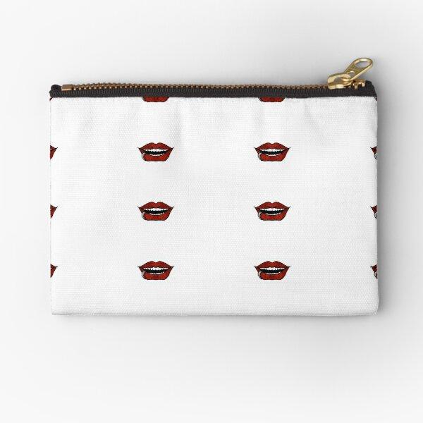 Vampire Red Lips Zipper Pouch