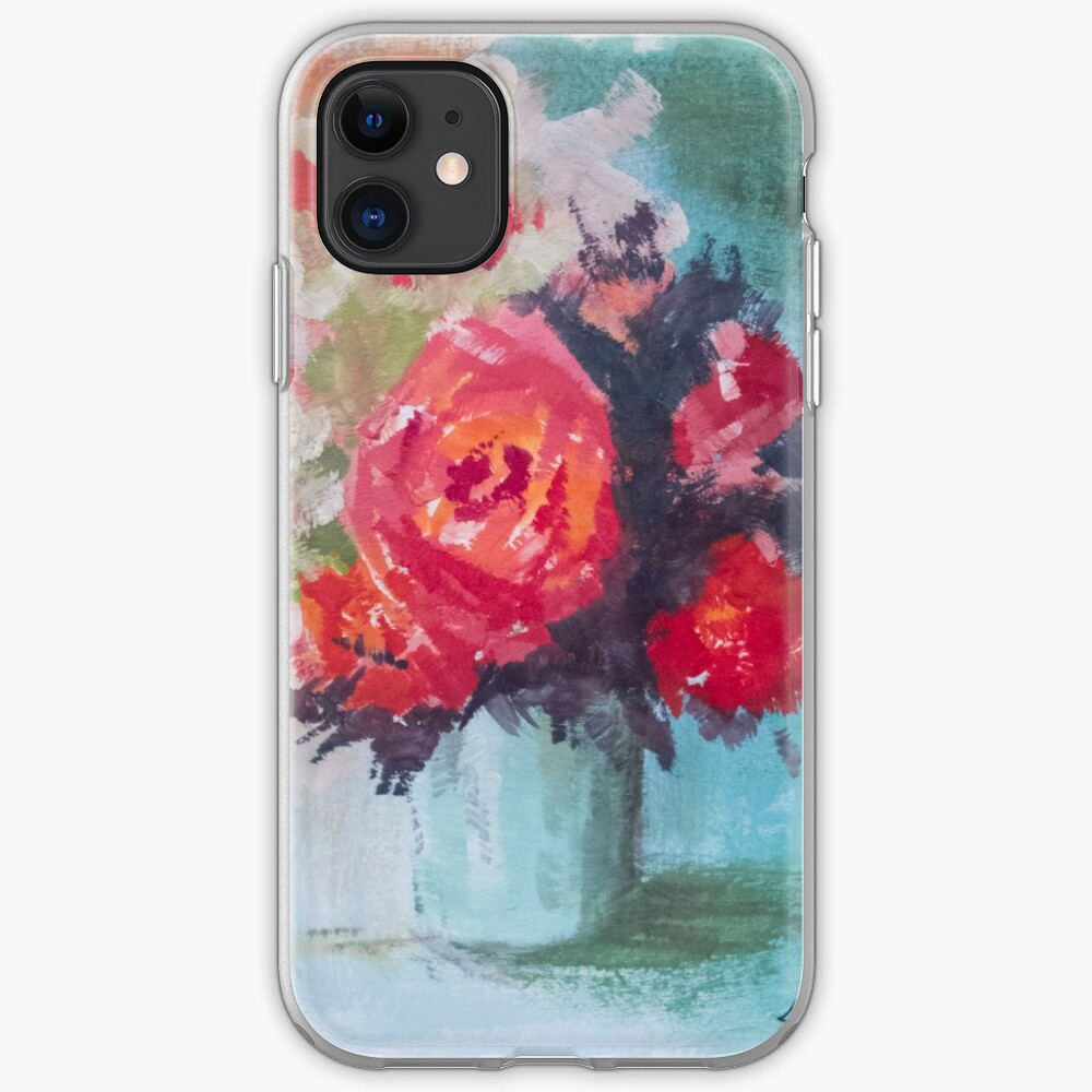 Vase of Roses iPhone Case & Cover