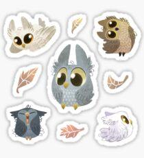 Puffy Owls Sticker