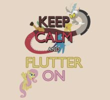 Keep Calm and Flutter On | Unisex T-Shirt