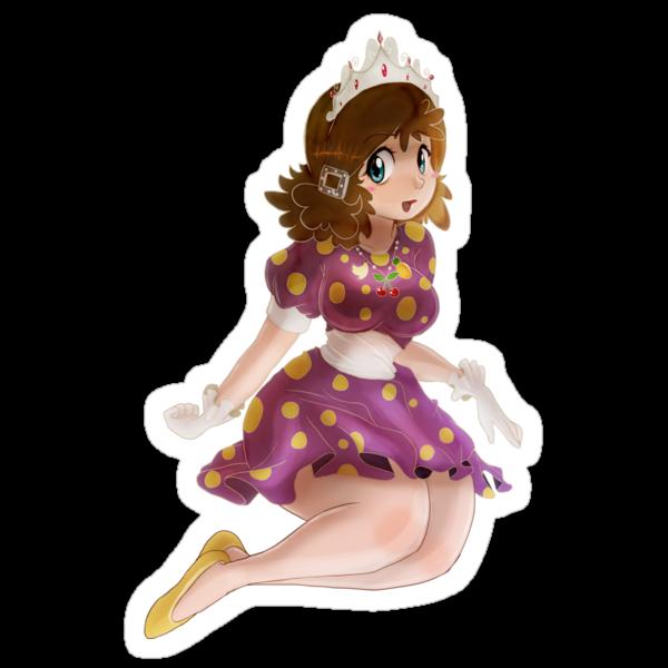 Polk-a-dot Purple Dress Princess by SaradaBoru