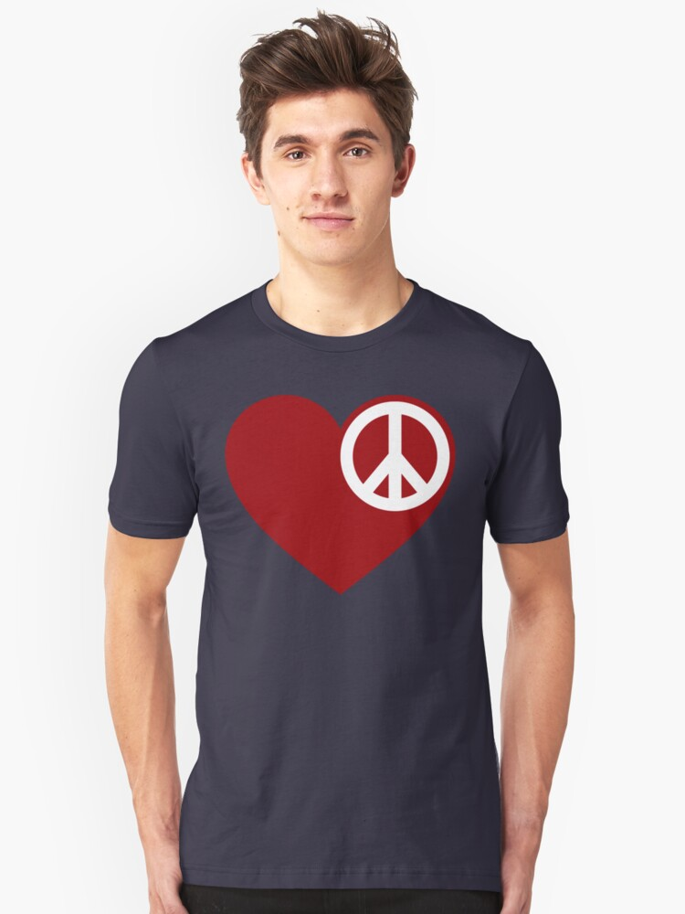 Heart Peace Unisex T-Shirt Front