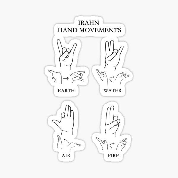 Irahn Hand Movements Sticker