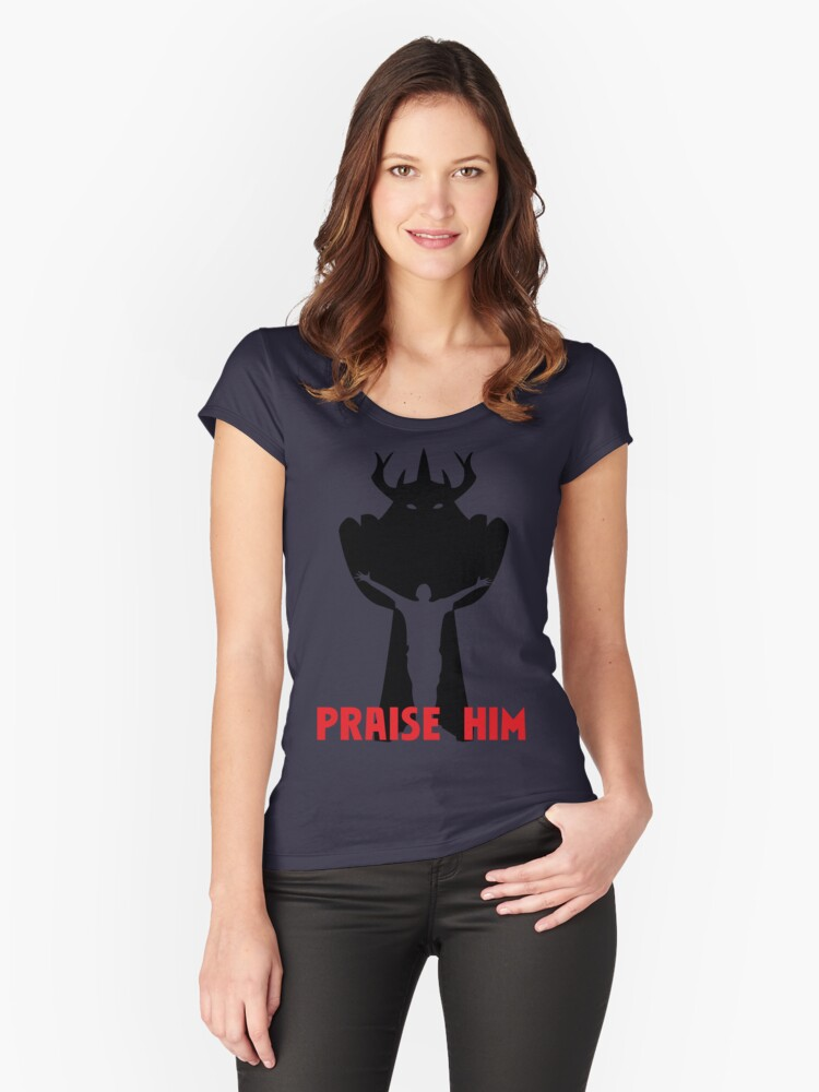 Praise Him! Women's Fitted Scoop T-Shirt Front
