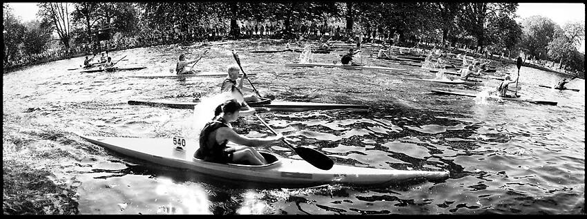 Kayak racing, The Embankment, River Great Ouse, Bedford by DarrenLeeMarsh