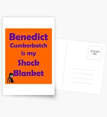 Benedict Cumberbatch is my Shock Blanket Postcards