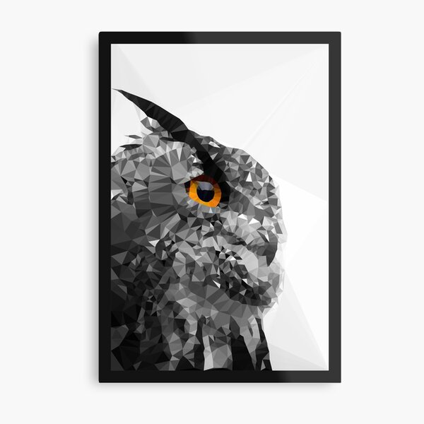 with that penetrating look of wisdom. Metal Print