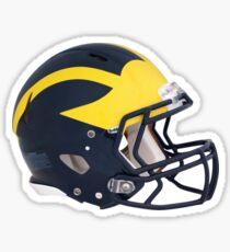 Wolverines Winged Football Helmet Sticker