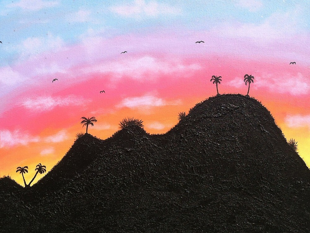 Tropic Island At Sunset by Whitneyleigh
