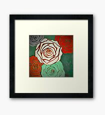 Vintage Style Christmas Roses Framed Print