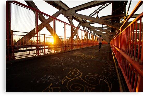 Williamsburg Bridge at Sunset - New York City by Vivienne Gucwa