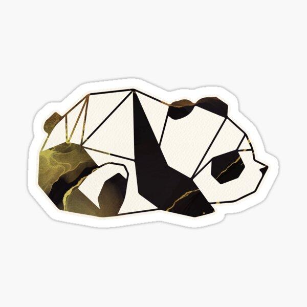 Black and Gold Geometric Panda Sticker