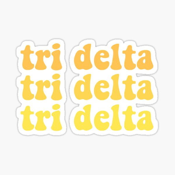 TRI DELTA GRAPHIC Sticker