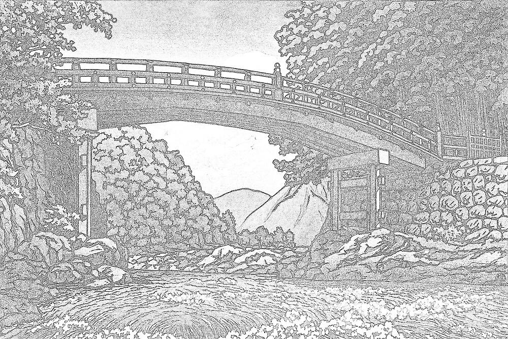 Kamibashi Bridge at Nikko, Japan by chawus