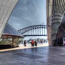 Sydney Opera House and Harbour Bridge by Eve Parry