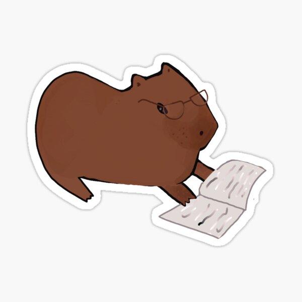 Studious Capybara Sticker