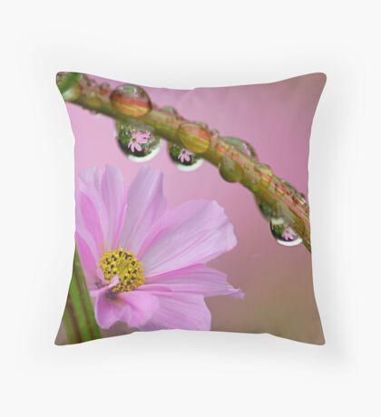 Cosmos in the rain Throw Pillow