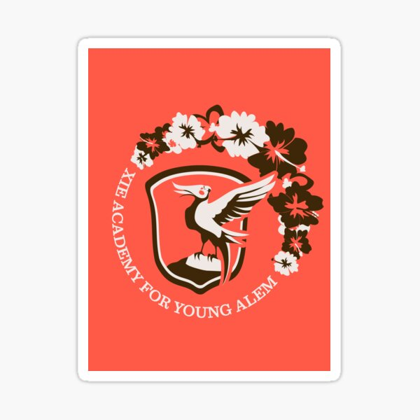Xie Academy for Young Alem (Red Background) Sticker