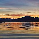 Sunset over the Black Cuillin's of Skye, Scotland. by David Alexander Elder