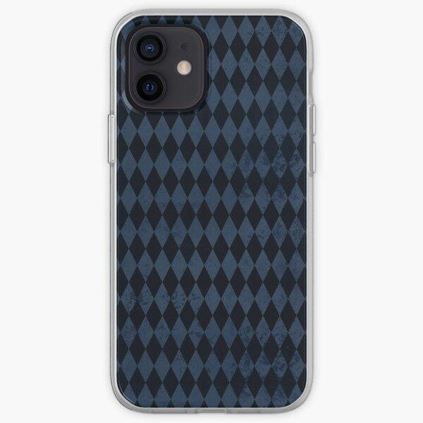 Blue and Black Harlequin iPhone Soft Case