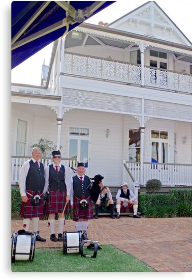 Redlands Sporting Club Pipe Band at Whepstead Manor  by Vanessa Pike-Russell