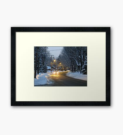 Gathering Dusk Framed Print