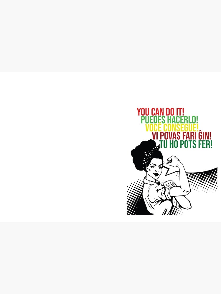 You can do It Central American languages | Quote Spanish, Portuguese, Catalan, Esperanto | Hispanic Woman SVG, Latin Pride by culturedsis