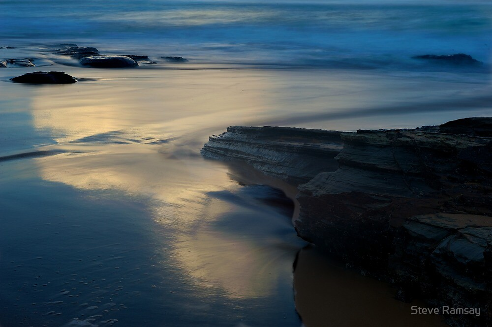 Warriewood Beach in colour by Steve Ramsay