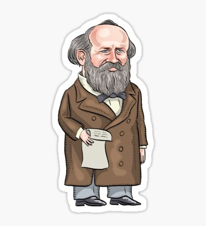 President James Garfield Sticker