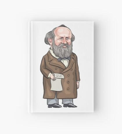 President James Garfield Hardcover Journal