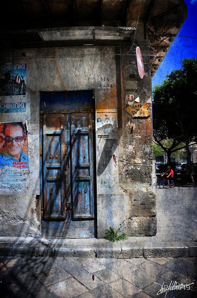 Blue Door in Palermo by Patito49