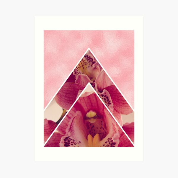 Glam Pink Orchids Art Print