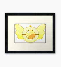 Golden Rescue Badge Framed Print