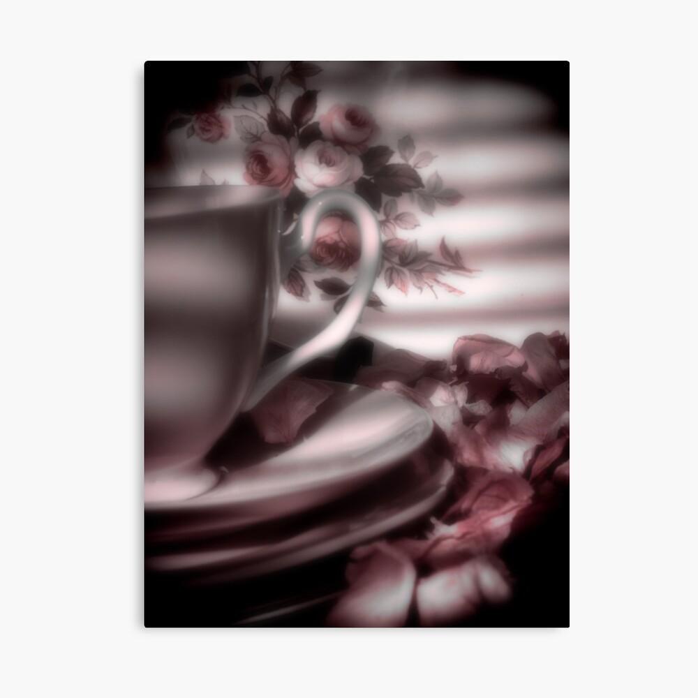 Tea Cups and Roses Leinwanddruck