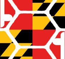 Maryland Flag Shell Sticker