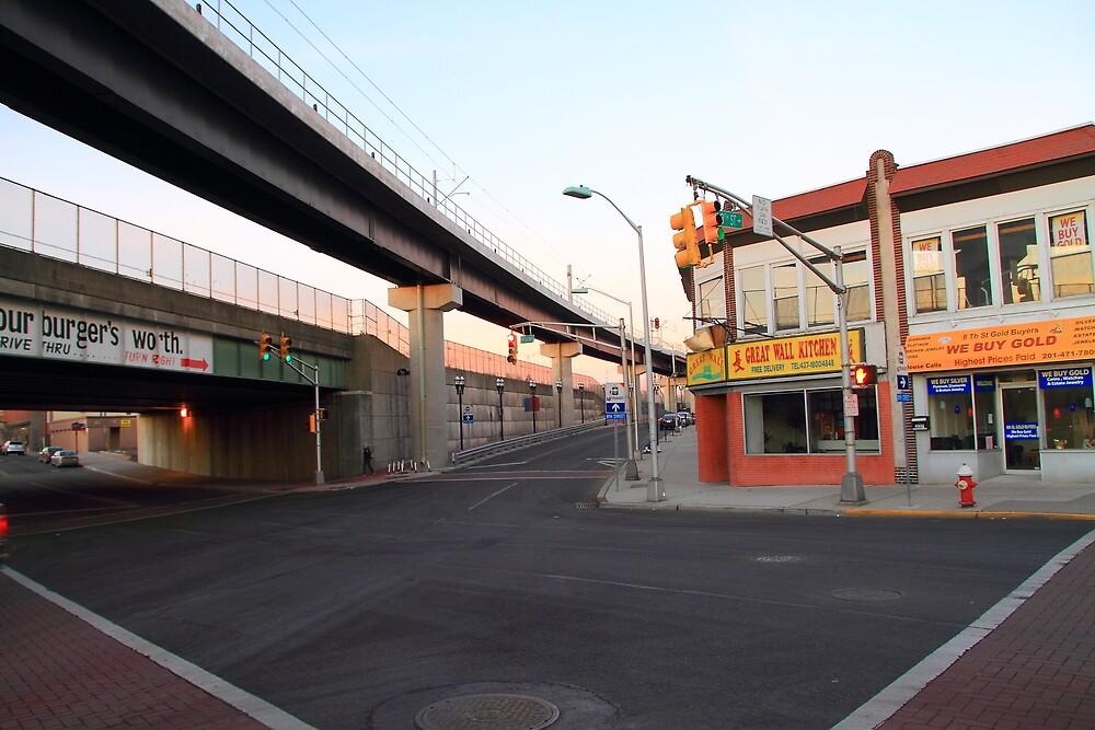 NJ Transit's Elevated Track Bayonne NJ by pmarella