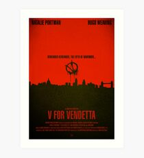 "Movie Poster - ""V for VENDETTA"" Art Print"