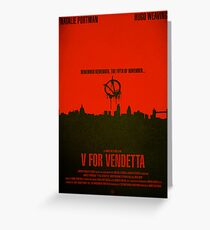 "Movie Poster - ""V for VENDETTA"" Greeting Card"