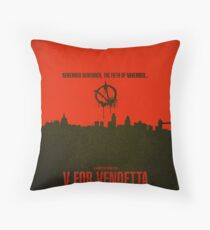 "Movie Poster - ""V for VENDETTA"" Throw Pillow"